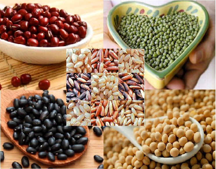 Gạo lứt và các loại đậu-Một số loại thực phẩm giúp mẹ lấy lại dáng vóc sau sinh
